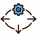 ai, artificial intelligence, automation, decision support systems icon