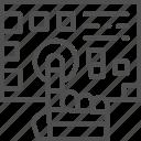 arm, chip, future, intelligence, machine, pressed, robot icon
