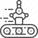 arm, belt, conveyor, industry, mechanical, package, robot icon