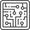 chip, circuit, cpu, future, intelligence, microchip, processor icon