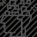 artificial, brain, circuit, head, intelligence, robot, thinking icon