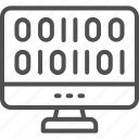 chip, coding, development, intelligence, machine, monitor, web icon