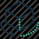 direction, cube, rotation, arrow