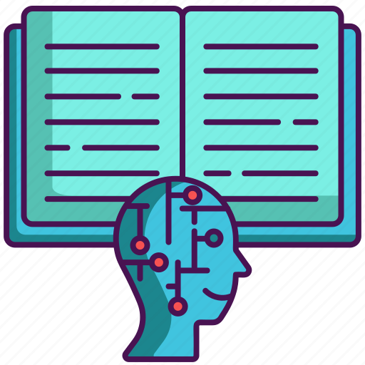 artificial intelligence, knowledge, learning icon