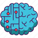 artificial intelligence, brain, simulation icon
