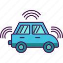 artificial intelligence, car, driveless icon