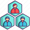 agent, artificial intelligence, multi, system icon