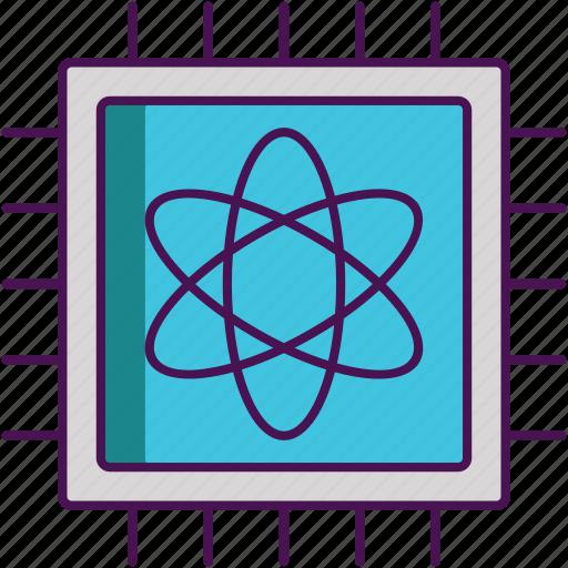 artificial intelligence, computing, quantum icon