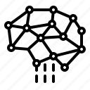 artificial, net, network, neurology, neuron, social icon