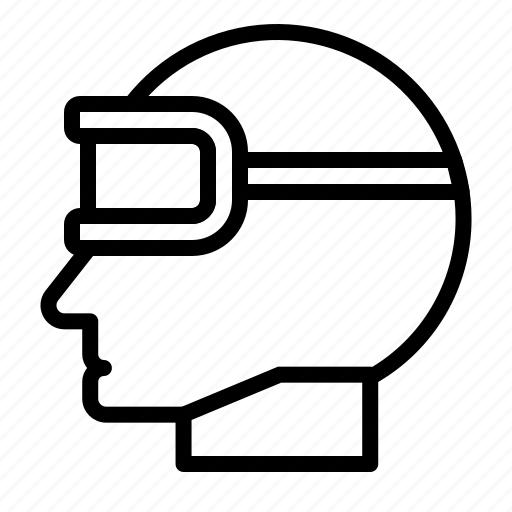 artificial, artificial intelligence, head, machine, robotics, virtual icon