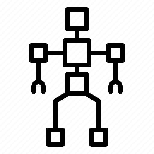 artificial, machine, robot, robotics, structure icon