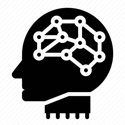 ai, artificial, artificial intelligence, brain, machine intelligence, neuron, robotics icon