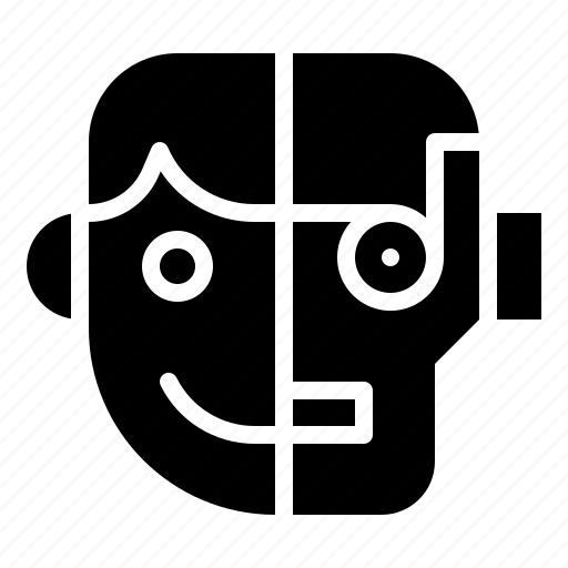 ai, artificial, humanoid, robot, robotics icon