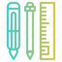 art, education, stationery, tools icon