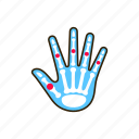 arthritis, body, fingers, hand, human, inflammation, joints icon