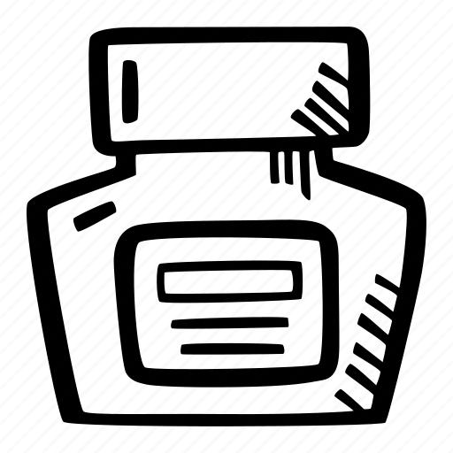 art, arts and crafts, craft, doodle, hobby, ink, jar icon