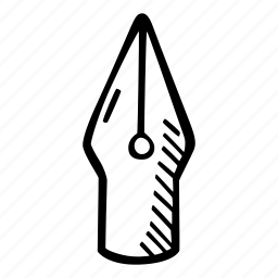 art, arts and crafts, craft, doodle, hobby, nib, pen icon