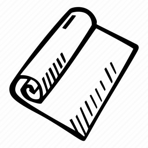 art, arts and crafts, craft, doodle, hobby, paper, roll icon