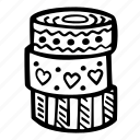 art, arts and crafts, craft, doodle, hobby, tapes, washi icon
