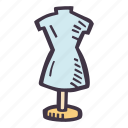 art, arts and crafts, craft, doodle, dressform, hobby icon