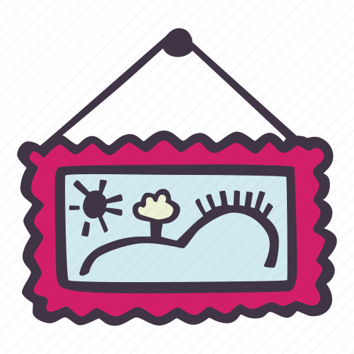 art, arts and crafts, craft, doodle, hobby, painting icon