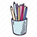art, arts and crafts, craft, doodle, hobby, holder, pencil icon