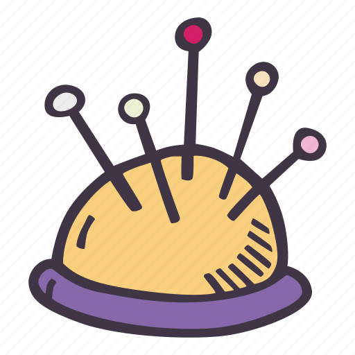 art, arts and crafts, craft, cushion, doodle, hobby, pin icon