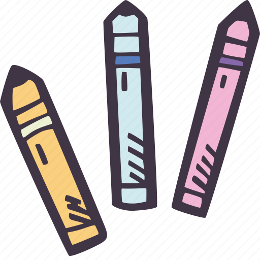 art, arts and crafts, craft, crayons, doodle, hobby icon
