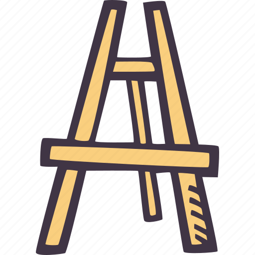 art, arts and crafts, craft, doodle, easel, hobby icon