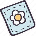 art, arts and crafts, craft, doodle, flower, hobby, patch icon