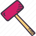 art, arts and crafts, craft, doodle, hobby, mallet icon