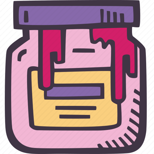 art, arts and crafts, craft, doodle, hobby, jar, paint icon