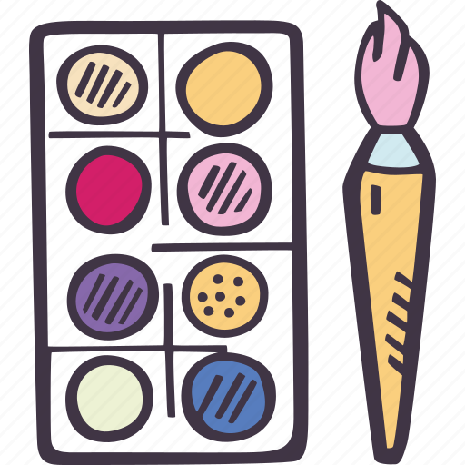 art, arts and crafts, craft, doodle, hobby, paint, pallette icon