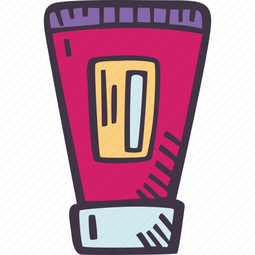 art, arts and crafts, craft, doodle, hobby, paint, tube icon