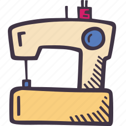 art, arts and crafts, craft, doodle, hobby, machine, sewing icon