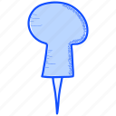 pin, tack, thumbtack icon