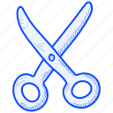 and, arts, crafts, cut, edit, scissors icon