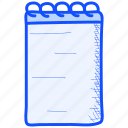 binder, notebook, notepad icon