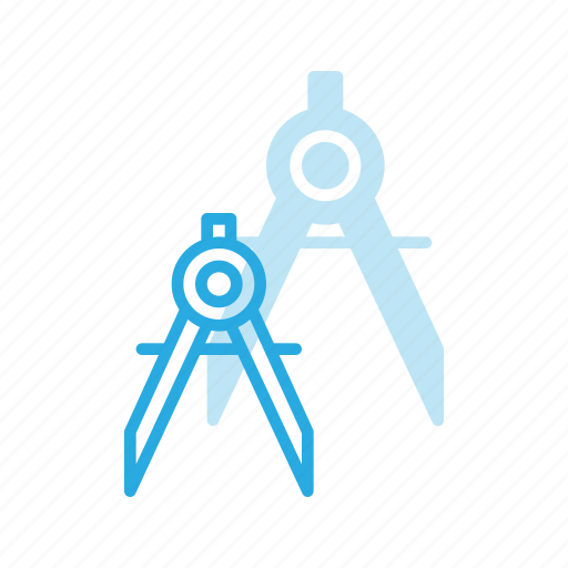 compass, crafts, maths, protracter, tools icon