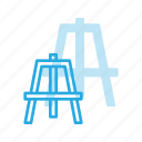art, design, easel, painting, stand icon