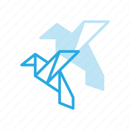 art, bird, craft, handcraft, origami, paper icon