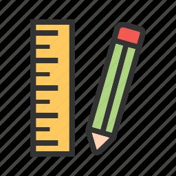 eraser, office, pencil, pencils, sharp, wood, write icon