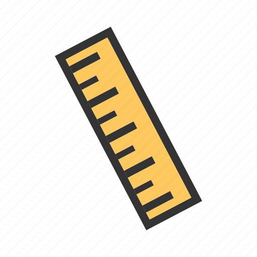 equipment, instrument, long, number, office, ruler, school icon