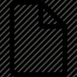 blank, docum icon