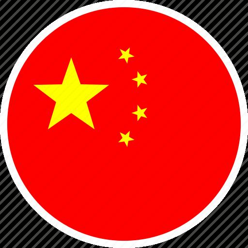 asia, china, country, flag, nation, round icon