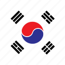 asia, country, flag, korea, nation, round, south icon