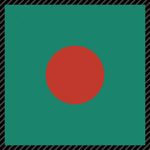 bangladesh, country, flag, national icon