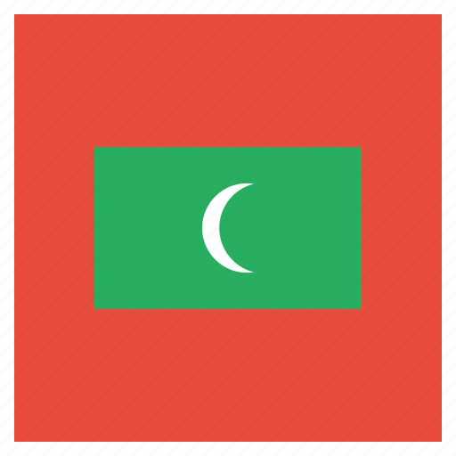 country, flag, maldives, national icon