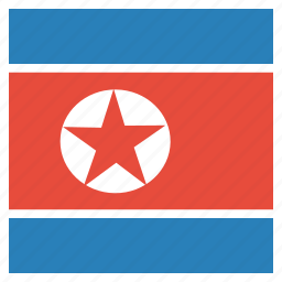 country, flag, korea, korean, national, north icon