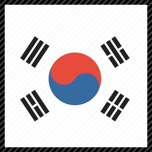 Country, flag, korea, korean, south icon - Download on Iconfinder